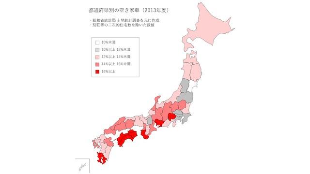 出展:総務省統計局「平成25年住宅・土地統計調査」