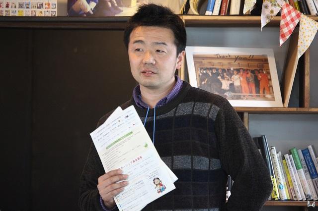 ●吉澤 武彦さん(一般社団法人日本カーシェアリング協会代表理事) 立命館大学政策学科を卒業後、6年間広告代理店に勤務。退社後、本格的に社会活動に従事し始め、平和や環境に関する様々なプロジェクトに取り組む。震災後、一般社団法人日本カーシェアリング協会を設立し石巻で取り組みを続ける。