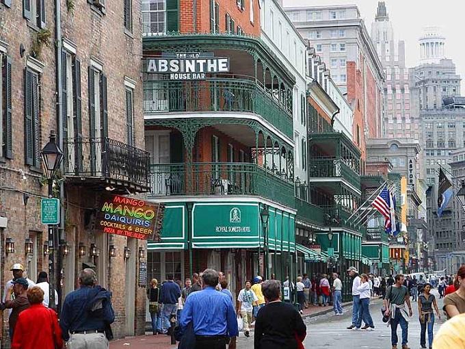 ニューオーリンズの町並み(wikimedia commons)