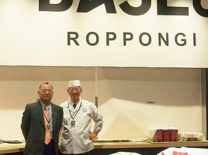 写真:関さん(左)と、料理人・太田忠道さん